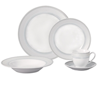 PORCELAIN 20 PIECE ROUND DINNERWARE SET SERVICE FOR 4
