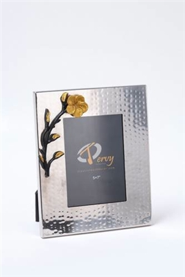 5x7 Picture Frame-Frangipani Black/Gold