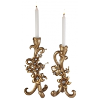 Bronze Candleholder Set of 2
