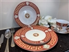 49 PCS DINNER SET, Red Greek DESIGN