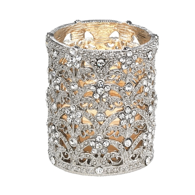 SILVER CRYSTAL SINCLAIR TEALIGHT HOLDER