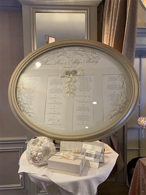 Oval Shadowbox Seating Chart