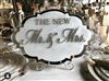 Chic Hanging Wedding Plaque with beautiful Diamante Crystals Swarovski 'Mr & Mrs