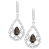 Bellissima Sterling Silver Pear Smoky Quartz Earrings