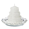 Italian Scented Wedding Cake Candle With Italian Crystal Base