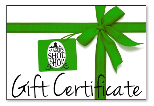 Gift Certificate | Saager's Shoe Shop