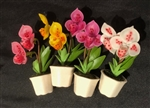 Handmade Clay Orchid Magnets From Thailand