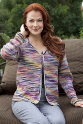 Half Linen Striped Cardigan Kit