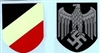 German WWII Heer (Army) Eagle & Tri-Color Shield Water Transfer Decals