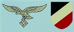 2nd Model Luftwaffe Eagle & Tri-Color Shield Water Transfer Decals