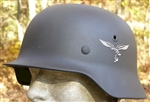 German WWII Feldblau (Luftwaffe Blue) M40 Or M42 Helmet Spray Paint