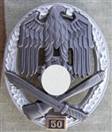 German WWII General Assault Badge 50