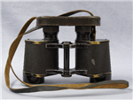 German WWII 10 x 50 Ordnance Tan (Dunkelgelb) Binoculars With Presstoff Case