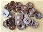 Original 17 mm Press Paper Trouser Buttons (Set of 30)