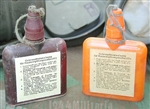 Original German WWII Decontamination Ointment Bottle (Hautentgiftungsalbe 41) With Reproduction Labels