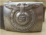 Original Waffen SS EM/NCO's RODO Belt Buckle With Original Leather Combat Belt