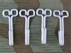 Reproduction German WWII Feldblusen Aluminum Hooks (Set of 4)
