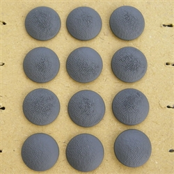 Reproduction German WWII Hollow Back Pebbled Grained Buttons (Set Of 12)