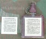 Reproduction German WWII Decontamination Ointment Bottle (Hautentgiftungsalbe 41) Label