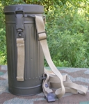 Reproduction German WWII Gasmask Container With Straps