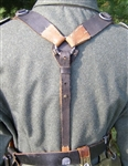 German WWII Leather Combat Y-Straps