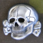 Reproduction Waffen SS Metal Cap Skull