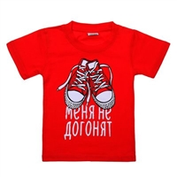 "Kids T-shirt ""Red..."" size 34 (122-128cm).100% cotton"