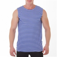"Tank shirt ""Navy"",100% cotton, Slim Fit"