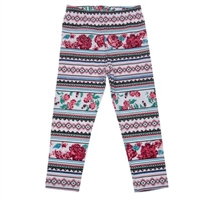 "Leggings for a girl ""Ethnic"" style. 100% cotton"