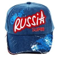 "Denim Cap ""Russia super"""