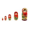 "Traditional Matreshka Doll. ""Russian Churches"". 5 dolls. Large 17 cm. Hand Panted Wood"