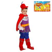 "Carnival costume ""Puss in Boots"" . 5 pcs(dress and headpiece) . H 120 cm -130 cm"