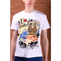 "T-shirt ""I love Ekaterinburg"",100% cotton Slim Fit"