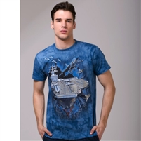 "3D T-shirt ""Force"",100% cotton Slim Fit"