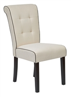 Elegant Savanna Armless Chair 2-Pack for Salon & Spa Seating - White, Brown, Blues, & Yellows