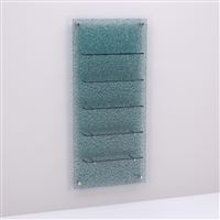 Salon & Spa Retail Glass Shelves & Waterfall Resin Wall Panel