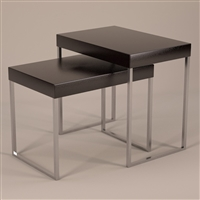 Modern Nesting Display Tables, Set of 2