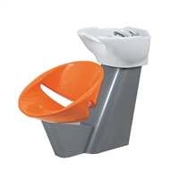 Orange, Grey & White Modern Shampoo Backwash