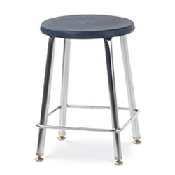 "Virco 12018 - 120 Series 18"" High Stool with Colored Plastic Seat, Chrome Frame  (Virco 12018)"
