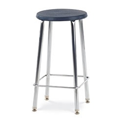 "Virco 12024 - 120 Series 24"" High Stool with Colored Plastic Seat, Chrome Frame  (Virco 12024)"