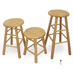 "Virco 12330 - Stool, All Wood 30""  (Virco 12330)"