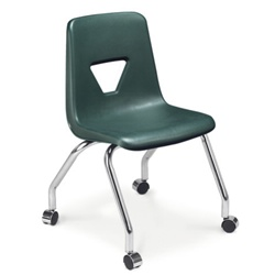 "Virco 2050EL - 4-Leg 2000 Series Mobile Chair- Extra Large 18"" Seat Height"