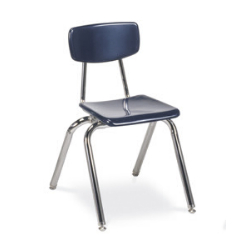 "Virco 3016 - 3000 Series 4-Legged Hard Plastic Chair - 16"" Seat Height  (Virco 3016)"