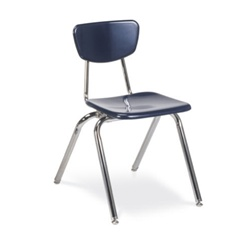 "Virco 3018 - 3000 Series 4-Legged Hard Plastic Chair - 18"" Seat Height  (Virco 3018)"