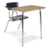 "Virco 3400NBRL - Combo Desk with 18"" Hard Plastic Seat, 18"" x 24"" Hard Plastic Top, no bookrack<br> (Virco 3400NBRL)"