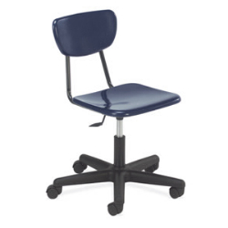 3860GC Hard Plastic Chair with Wheels  (Virco 3860GC)