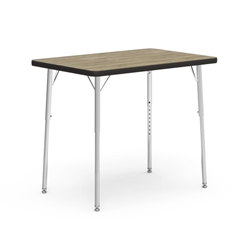 "Virco 482436CHRM - Rectangular 24"" x 36"" Activity Table, 1 1/8 inch Thick Laminate Top, Adjustable Legs All Chrome  (Virco 482436CHRM)"