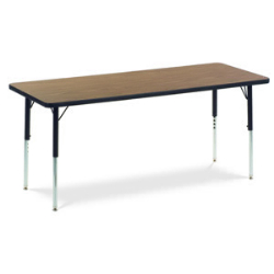 "Virco 482460N- Rectangular 24"" x 60"" Activity Table, 1 1/8 inch Thick Laminate Top, non-adjustable All Chrome Legs  (Virco 482460N)"