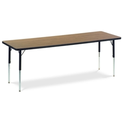 "Virco 482472N- Rectangular 24"" x 72"" Activity Table, 1 1/8 inch Thick Laminate Top, non-adjustable All Chrome Legs  (Virco 482472N)"