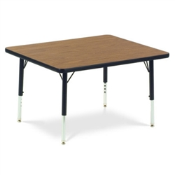 "Virco 483036CHRM- Rectangular 30"" x 36"" Activity Table, 1 1/8 inch Thick Laminate Top, Adjustable Legs All Chrome  (Virco 483036CHRM)"